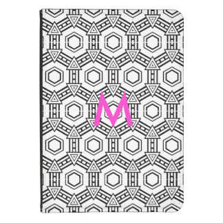 Abstract Optical with Pink Monogram Kindle Case