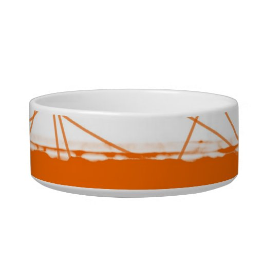 Abstract Orange 1 Cat Water Bowls