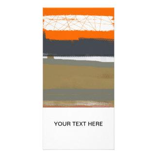Abstract Orange 1 Photo Card