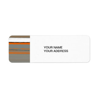 Abstract Orange 2 Return Address Label