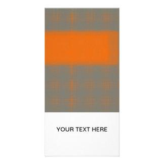 Abstract Orange 3 Photo Greeting Card