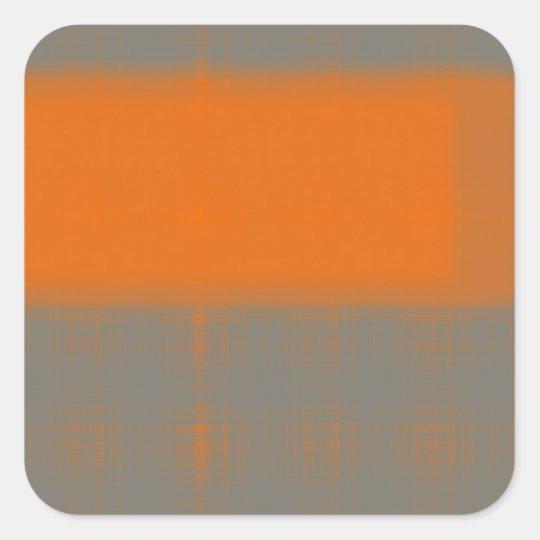Abstract Orange 3 Square Sticker