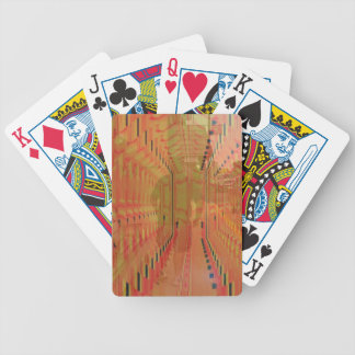 Abstract Orange Alternate Reality Bicycle Playing Cards