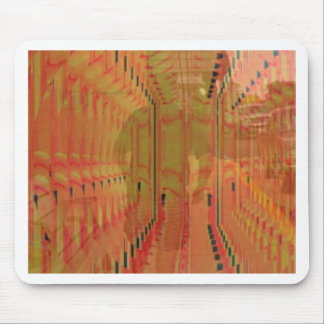 Abstract Orange Alternate Reality Mouse Pad
