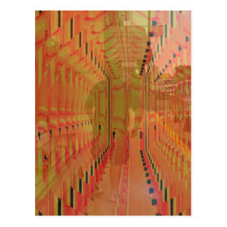 Abstract Orange Alternate Reality Postcard