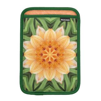 Abstract Orange and Green Kaleidoscope Sleeve For iPad Mini