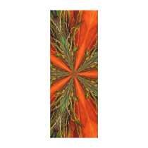 Abstract Orange And Green Pattern Canvas Print