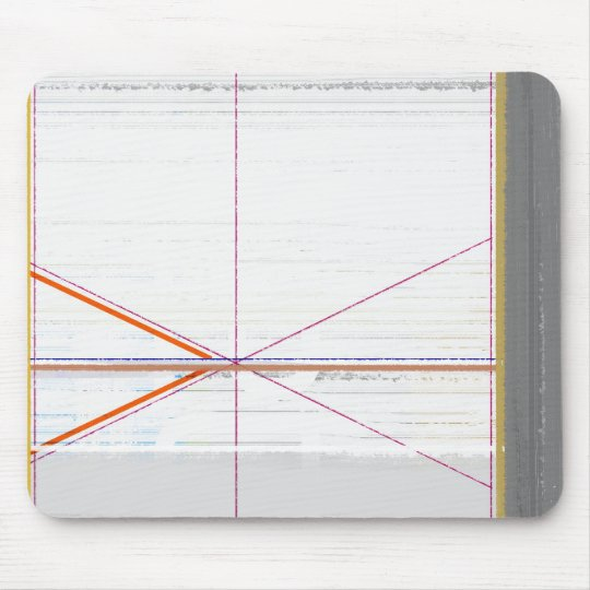 Abstract Orange and Grey Mouse Pad