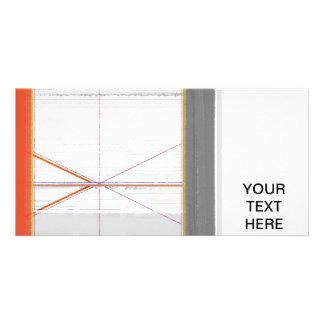 Abstract Orange and Grey Photo Greeting Card