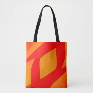abstract Orange and red pillow all-over tote bag
