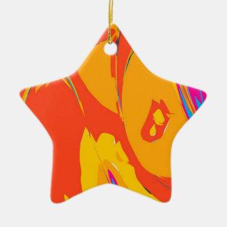 Abstract Orange Ceramic Ornament