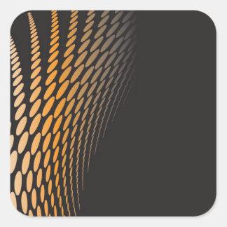 Abstract Orange Dots Pattern Square Sticker