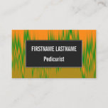 [ Thumbnail: Abstract Orange, Green, Brown Wave Pattern Card ]