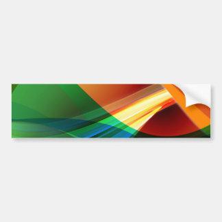 Abstract Orange Green Bumper Sticker