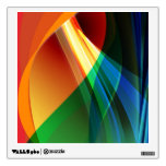 Abstract Orange Green Room Graphic