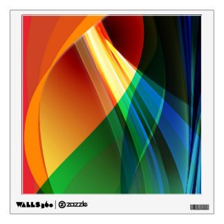 Abstract Orange Green Wall Decal