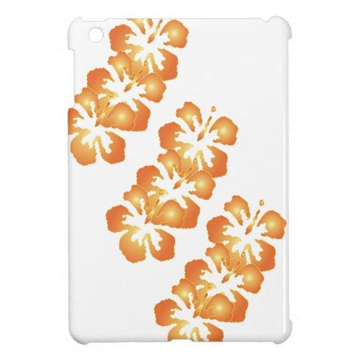 Abstract Orange Hibiscus Flowers iPad Mini Case