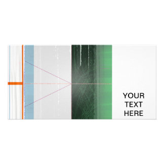 Abstract Orange lines Personalized Photo Card