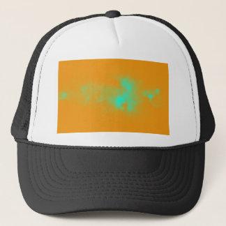 Abstract Orange Nebulla with Galactic Cosmic Cloud Trucker Hat