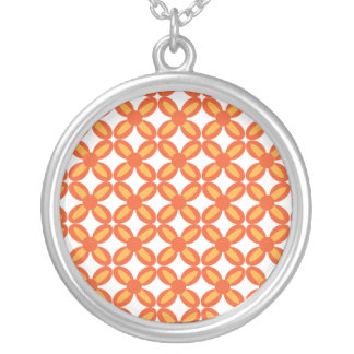 Abstract Orange Necklace