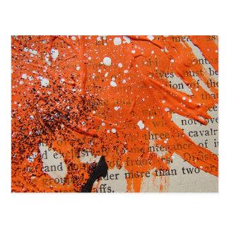 Abstract Orange Paint Postcard