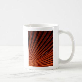 Abstract Orange Palm Frond Coffee Mug
