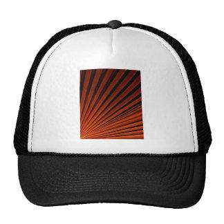 Abstract Orange Palm Frond Trucker Hat
