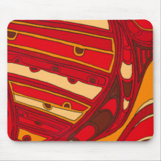 Abstract Orange Panels Mouse Pad