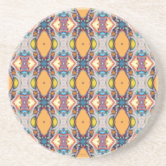 Abstract Orange Pattern Drink Coaster