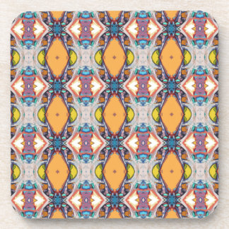 Abstract Orange Pattern Drink Coasters