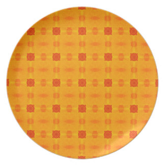 Abstract Orange Pattern Dinner Plate