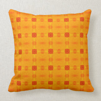 Abstract Orange Pattern Throw Pillow