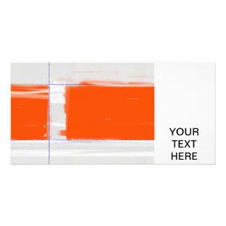 Abstract Orange Custom Photo Card