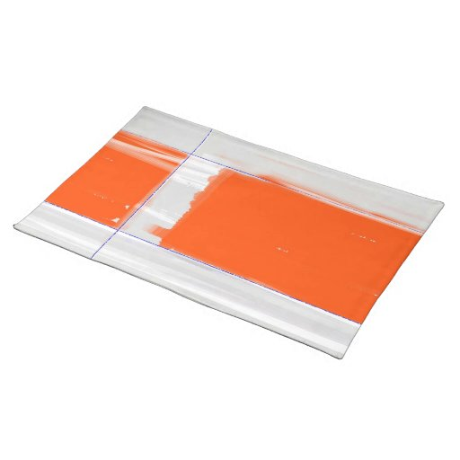 Abstract Orange Place Mats