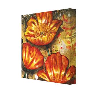 Abstract Orange Poppies Canvas Print