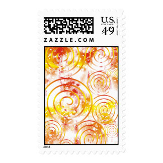Abstract Orange/Red Postage