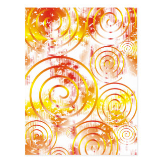 Abstract Orange/Red Postcard