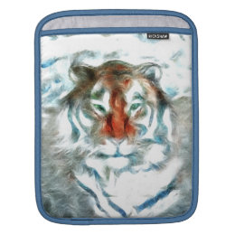 Abstract orange tiger face sleeve for iPads