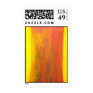 Abstract Orange Tree Trunk (abstract painting) Postage