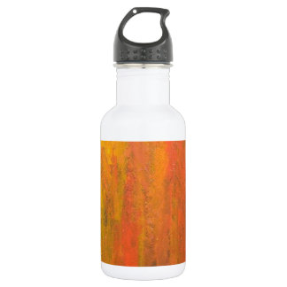 Abstract Orange Tree Trunk Water Bottle