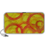 Abstract Orange & Yellow Circles Mp3 Speaker