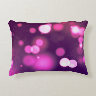 Abstract Orbs Pink/Purple Whimsical Design Accent Pillow