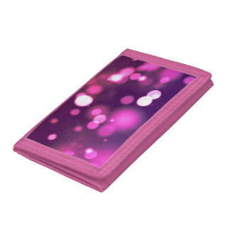 Abstract Orbs Pink/Purple Whimsical Design Trifold Wallet