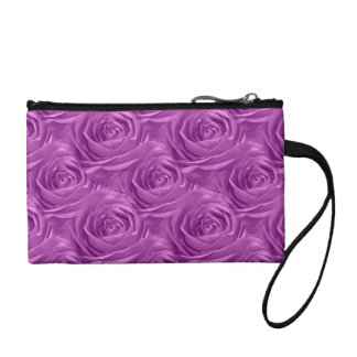 Abstract Orchid Colored Rose Wallpaper Pattern Change Purse