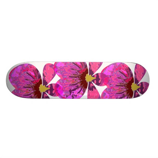 Abstract Orchid Skateboard