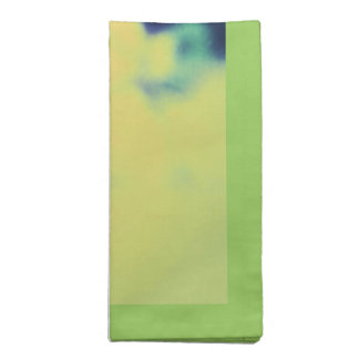 Abstract Orchids Yellow Background Napkin
