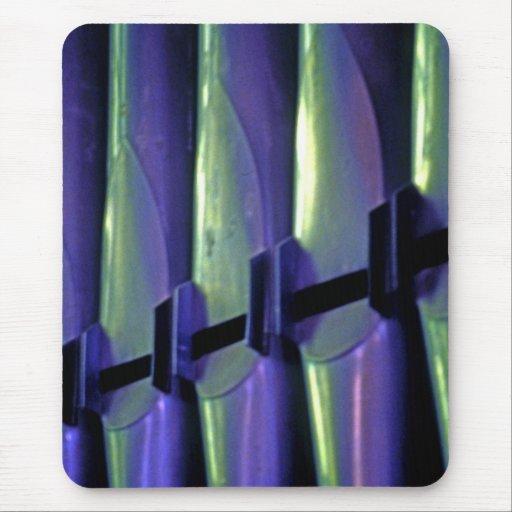 Abstract Organ Pipes Mouse Pad