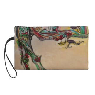 Abstract Organic Art Wristlet Purse