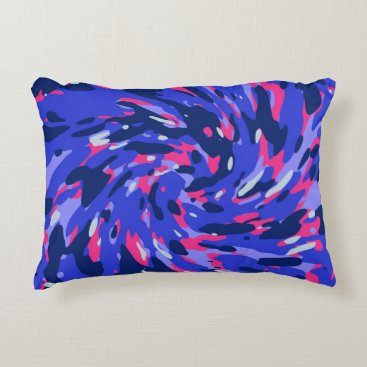 Abstract organic pattern accent pillow