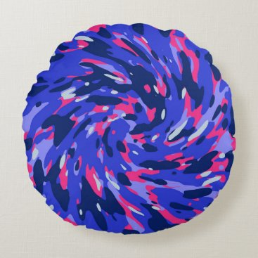 Abstract organic pattern round pillow